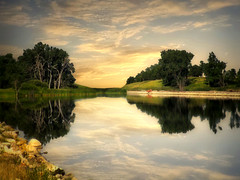 Country pond 1 (mrbillt6) Tags: landscape rural prairie pond trees reflection outdoors country countryside northdakota