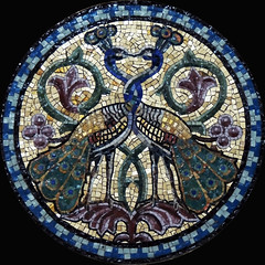 Peacocks EXPLORED! (Shahrazad26) Tags: mozaïek mosaic isoladisanmichele chapel kapel venice venizia venetië venedig italia italien italy italië pauwen peacocks paons