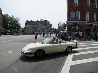 White Alfa Romeo Spider, 2018 Independence Day Parade, Montclair, NJ