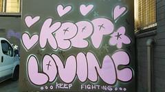 Pure Evil: 'Keep Loving'... (colourourcity) Tags: melbourne burncity colourourcity nofilters awesome streetart streetartaustralia streetartnow graffitimelbourne graffiti pureevil sleepingtwoardstheapocalypse charleyuzzeledward vsgallery vsgallerymelbourne vsgm