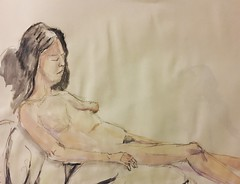 Wild Goose #lifedrawing 8.1.18 (Howard TJ) Tags: ohio columbus wildgoose watersolublegraphite study life female drawing figure lifedrawing