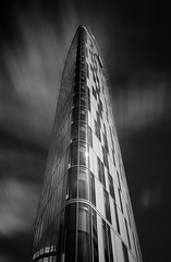 The new... (T.Seifer : ) Back in September) Tags: blackandwhite blackwhite bw building hotel fx longexposure outdoors outside travel tourism monochrome clouds cloudscape whiteandblack whiteblack hamburg lines cityscape architecture