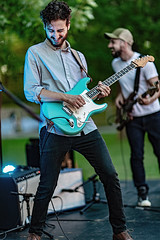C58R3001 (Nick Kozub) Tags: justin saladino band laval zones musicals festival concert gig live music spectacle fender gibson guitar ruckus fun photography canon day festive supro amp heat bassface evening 1d x 85 f12 ii l