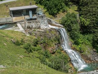 MUO052 EBS Ruosalp Weir over the Ruosalper Brook, Unterschaechen, Canton of Uri, Switzerland