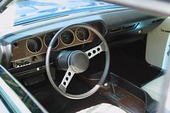 Plymouth Barracuda 340 (JoRoSm) Tags: hebden bridge classic vintage car show 2018 cars autos canon eos 500d tamron 1750 f28 plymouth barracuda cuda 340 dash cockpit steering wheel wood auto automatic