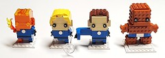 Brickheadz - Fantastic Four! (Dodge...) Tags: lego slug 2018 brickheadz fantasticfour fantastic4 humantorch invisiblewoman mrfantastic thething marvel characters ff f4 firstfamily richards