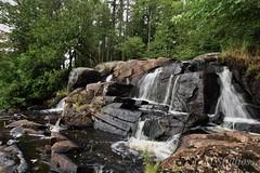 """Small falls"" (c.m.studios) Tags: rocksandgems adventures hikes ontario highfalls rocksandwater waterfalls falls texture movement nature value composition bracebridge"