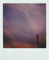 The heat is ascending (Moesko Photography) Tags: analogue polaroid polaroid600 sky clouds summer evening outdoor ambient psychedelic