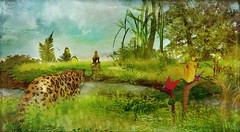 Memories from the jungle - Hommage to Henri Rouseau (Thus Yootz_3) Tags: jungle monkey animals