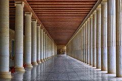 Museum of the Ancient Agora (lfeng1014) Tags: stoaofattalos museumoftheancientagora athens archaeologicalsite mable columns structure architecture greece museum perspective landscape landmark canon5dmarkiii ef2470mmf28liiusm travel lifeng symmetry lines reflections