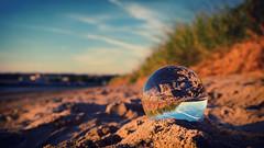 Beach Glass (paul.wesson) Tags: atlanticcanada canada closeup day eastcoast easternpassage explorecanada explorens fuji fujixt1 goldenhour igcanada igersnovascotia imagesofnovascotia landscape lensball novascotia ocean ohcanada reflection sunset visitnovascotia water yhz ns