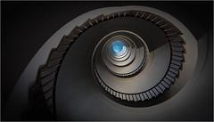 The Twister (Phil Durkin) Tags: ljubljana slovenia spiralstaircase light vertical vertigo stairs curves shadows
