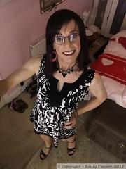 June 2018 (Girly Emily) Tags: crossdresser cd tv tvchix tranny trans transvestite transsexual tgirl tgirls convincing feminine girly cute pretty sexy transgender boytogirl mtf maletofemale xdresser gurl glasses dress tights hose hosiery indoor stilettos highheels
