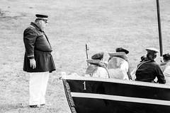 hey where you guys going? (timp37) Tags: black white illinois july 2018 lombard four seasons park 1 one number boat civil war reenactment