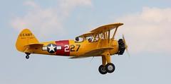 Stearman & The Happy Flyer (MedievalRocker) Tags: boeingstearman biplane headcorn raflashenden pilot passenger