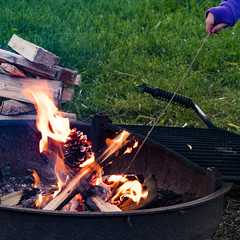 Camping (ValeTer_) Tags: grilling barbecue outdoor grill campfire cuisine fire roasting nikon d7500 conconully usa wa washington camping nature