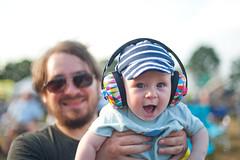 Arthur, day 212, 365 days. (evilibby) Tags: arthur baby jack fatherandson happy smile excited newforestfolkfestival newforestfolkfestival2018 folkfestival musicfestival eardefenders festival arthurs365days
