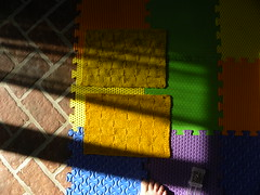 Osage Orange Dyed Afghan Squares (MadKnits) Tags: naturaldyeing osageorange yellow dyeing yarn wool merino corriedale