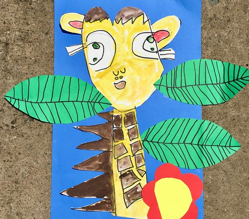 """1st grade African Giraffe Paintings #giraffe #drawing #painting #art #collage #1st #1stgrade #arteducation • <a style=""""font-size:0.8em;"""" href=""""http://www.flickr.com/photos/57802765@N07/43846674332/"""" target=""""_blank"""">View on Flickr</a>"""