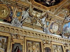 P5310447 (photos-by-sherm) Tags: galerie gallery dapollon louvre museum paris france summer art paintings ceilings statues tourists