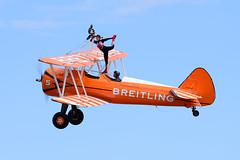 Stearman of The Flying Circus Wingwalking Team (rac819) Tags: oldwarden shuttleworthcollection shuttleworthtrust ukairdisplays family display familyairdisplay stearman wingwalking wingwalker
