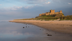 Castles in the air (Maria-H) Tags: bamburgh england unitedkingdom gb castle beach sea northumberland northumbria uk olympus omdem1markii panasonic 1235
