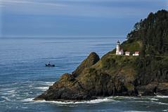 Heceta Head Lighthouse (Darrell Wyatt) Tags: coast lighthouse hecetahead boat fishing pacific northwest