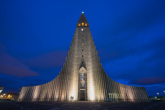 Hallgrímskirkja (JeffMoreau) Tags: hallgrimskirkja reykjavik church kirkja iceland icelandic sony a7ii long exposure blue hour zeiss 16mm 30 seconds 30s