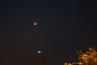 Moon and Mars over Sugarloaf