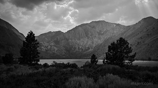 Convict Lake and Mt. Laurel, Yesterday