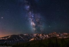 Glacier to Galaxy (Bill Bowman) Tags: milkyway indianpeaks stars planets southernrockymountains colorado niwotridge caribouridge arapahopeaks mountalbion kiowapeak navajopeak apachepeak starrylandscapestacker