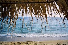 Mylopotas beach (brenkee) Tags: konica hexar af 35mm f2 pointandshoot greece travel film analog filmisnotdead staybrokeshootfilm kodak ektar