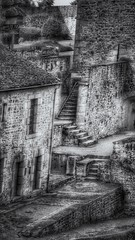 Old maze (LUMEN SCRIPT) Tags: perspective pov france stairway stairs stair steps building stonework stone monochrome architecture