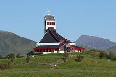 Borge Church (Geoff Buck) Tags: norway lofoten island borg borge church