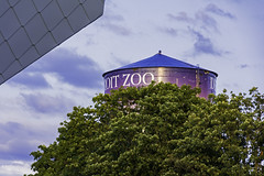 Nightime at the Detroit Zoo (TAC.Photography) Tags: watertower detroit detroitzoo sign zoo