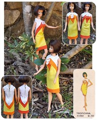 BAREFOOT IN THE PARK ... (ModBarbieLover) Tags: tropicana barbie american girl doll mattel brunette yellow orange park 1965 1967 fashion vintage mod