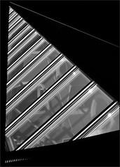(Armin Fuchs) Tags: arminfuchs würzburg universityofmusic diagonal stripes windows reflections ceiling niftyfifty