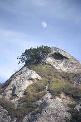 To reach the Moon (Massimiliano Teodori) Tags: castelmezzano mountain cliff hill range escarpment rocky peak rock strata hillside rockformation hiking valley moon basilicata lucania