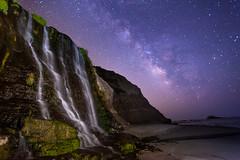 (ygchan) Tags: pointreyes nationalseashore california milkyway stars nightsky waterfall pacific ocean longexposure