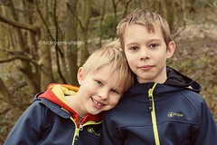 Nephews (lucyrogersphotography) Tags: brothers boys 8yearsold 7yearsold cute blondeboy higear nikon lucyrogersphotos portrait family love brotherlylove brotherlove outside woods
