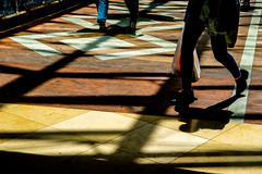 Shadows on Colours-DSC_8614-5 (thomschphotography3) Tags: germany cologne shadows patterns colours persons geometry lines streetphotography