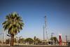 Oil Field Equipment Yard (wyojones) Tags: california taft kerncounty sunsetmidwayfield drillingrig workoverrig oilfieldequipment palmtree tree yard californiaoilfields petroleum oilfields rig