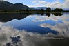 near Cholila, reflections (blauepics) Tags: argentina argentinien patagonia patagonien landscape landschaft hills hügel mountains berge chubut province provinz provincia clouds wolken scenery lago lake see water wasser shore ufer tree baum silhouettes silhouetten reflections spiegelung
