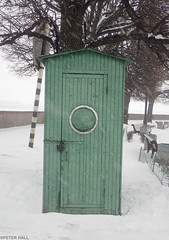 Green Shed (peterphotographic) Tags: olympus tough tg5 ©peterhall stpetersburg saintpetersburg russia росси́я p3190082edwm санктпетербу́рг greenshed snow winter cold freeze frozen ice