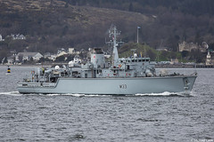 HMS Brocklesby, M33; Firth of Clyde, Scotland (Michael Leek Photography) Tags: ship vessel navalvessel navy rn royalnavy hmnbclyde hmnb hmsneptune faslane gareloch dunoon firthofclyde clyde minesweepers minehunter warship nato natowarships jointwarrior gourock britainsnavy britainsarmedforces trainingship trainingvessel michaelleek michaelleekphotography