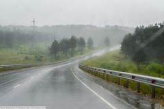 Amure Region, Russia. (Marie Villars) Tags: road rain cloud travel
