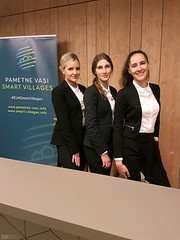 Hostese Viris na konferenci Smart Villages v hotelu Rikli.