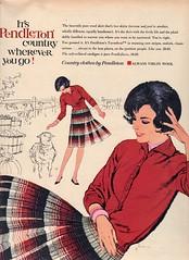Pendleton 1961 (barbiescanner) Tags: vintage retro fashion vintagefashion 60s 60sfashions 1960s 1960sfashions 1961 seventeen vintageadvertising 60sadvertising 1960sadvertising pendleton