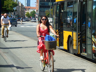 Its cooler by bike than in a non aircon bus !