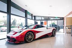 Inspired by the Fiat Turbina (Noah L. Photography) Tags: pagani huayra lampo red white car sportscar supercar hypercar italian paganinewportbeach newportbeach